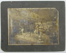 Antique Photo Grocery Store Lunch Counter Oklahoma Indian Territory (?)