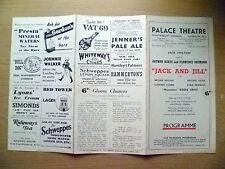 Palace Theatre Programme- A Askey, F Desmond in JACK AND JILL by E Littler