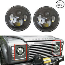 """Black PAIR 7"""" LED Daymaker Projector Headlight For Land Rover Defender Touring"""