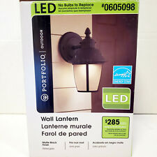 "Portfolio LED Matte Black Energy Star 9"" Outdoor Wall Light Lantern | 0605098"
