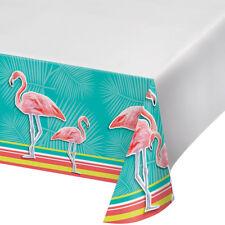 Island Oasis Tropical Party Flamingo Plastic Tablecover Hawaiian Beach theme
