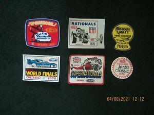 Drag Racing Memorabilia. Stickers & Decals. 1970 US Nationals ! Lot of 60.