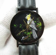 COCKATAIL BIRD Hand Painted Stunning Dial Woman/Kids/Unisex Watch L@@K!! 1980