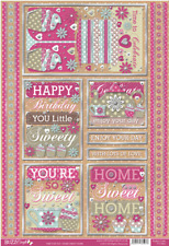 Time For Tea - HOME SWEET HOME - Topper Sheet - Die Cut & Foiled