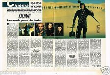 Coupure de presse Clipping 1985 (2 pages) Film Dune Sting paul Smith