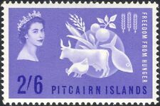 Pitcairn 1963 FAO/FFH/Freedom From Hunger/Cattle/Chicken/Fish/Food 1v (n18589)