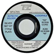 62362 Eutectic Silver Solder Wire 22 Rosin Core 100g Audiophile Usa Seller