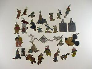 29x Disney Anhänger Sammlung 800-925 Silber Vintage Email Goofy Mickey 67g
