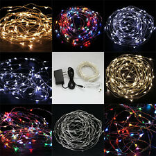 10M 100 LED Copper Wire LED String Fairy Lights for Decoration Xmas + AC Adapter