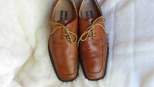Men's Zengara Oxfords Size 9.5 (D,M) Dress Solid Brown Leather