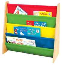 Sturdy Children Kids Book Storage Rack Easy Access 3 Years and Up Primary Colors