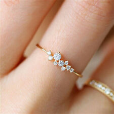 Exquisite Women's Romantic White Sapphire Wedding Ring Band Bridal Size 5-11