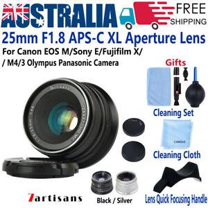 7artisans 25mm F1.8 Lens for Fujifilm X Sony E Mount Canon EF-M EOS M4/3 Olympus