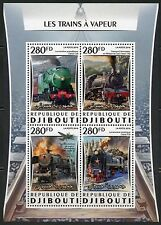 Djibouti 2016 Great Steam Trains Sheet Mint Never Hinged