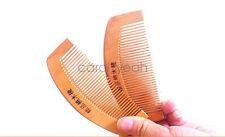 4Pcs New Natural Peach Wood Comb Close Teeth Anti-static Head Hair Care Wooden