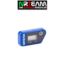 NRTEAM CONTAORE WIRELESS CROSS ENDURO VIBRAZIONE VIBRATION HOUR MOTO BLU