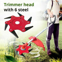 6 Steel Outdoor Trimmer Head Blades Razors Lawn Mower Grass Weed Cutter 65Mn USA