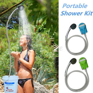 Outdoor Portable Shower Head Bathing Camping Water Pump Hiking Rechargeable