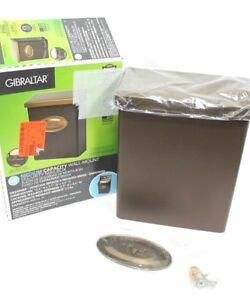 New Open Gibraltar Wall Mount Security Mailbox Slot Medium Capacity Bronze Brass