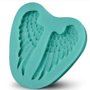 Silicone Birthday Cake Mold Angel Wings Decorating Chocolate Soap Soft Mold