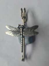 "C3   Dragonfly  kilt pin Scarf or Brooch pin pewter emblem 3"" 7.5 cm"
