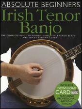 Absolute Beginners Irish Tenor Banjo 4-String TAB Music Book with Audio