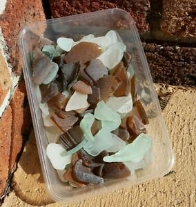 Port Kembla NSW beach sea glass 500g worn mixed, green, white or brown colours