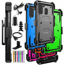 For Samsung Galaxy A21 Rugged Hybrid Cover Case Kickstand Stand w/Accessories