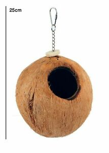 Coconut Nest for Budgies, Finches, Canaries, Love bird,Natural environment