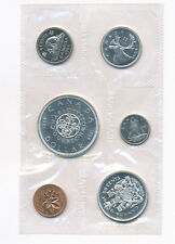 Canada 1964 lot of six FDC uncirculated coins including 1 silver dollar     M001