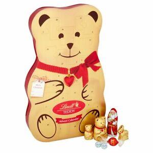 LINDT TEDDY BEAR ADVENT CALENDAR 3D CHRISTMAS CHOCOLATE GIFT XMAS COUNTDOWN