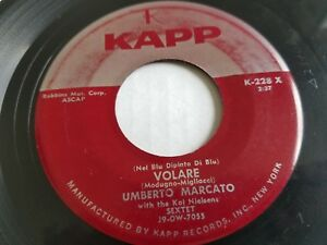 "Umberto Marcato - Volare / Automne Concerto 1958 Italien Pop Vocal 7 "" Kapp"