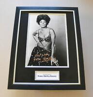 Shirley Bassey Signed Framed 16x12 Photo Autograph Music Memorabilia Display COA