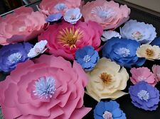 Set of 20 Paper Flowers for Wall Décor, Backdrops,Weddings,Showers decoration