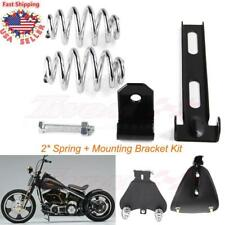 Motorcycle Solo Seat 3'' Springs Bracket Mounting Set For Harley Chopper Bobber