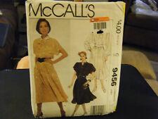 McCall's 9456 Misses Dress, Tie Bow & Belt Pattern - Size 20/22/24 Bust 42-46