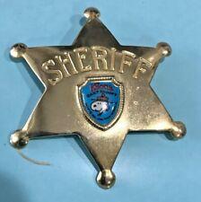 Knotts Berry Farm Amusement Park Camp Snoopy Sheriff Badge Pin