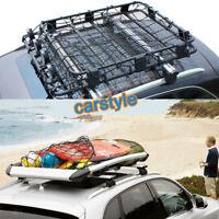 Car Roof Top Rack Mesh Cover Luggage Carrier Cargo Basket Elastic Net 100cmX80cm