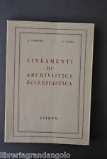 Archivistica Ecclesiastica Inventari Archivi Diocesani Scritture Palestra 1965