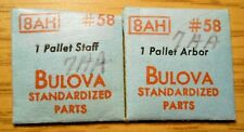 Bulova Watch Model 8Ah Genuine Factory Replacement Part #58 Pallet Staff Arbor