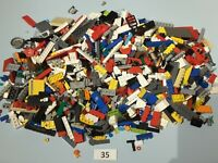 LEGO 1kg JOBLOT MIXED BRICKS BLOCKS FLATS BITS & BOBS City Star Wars *USED* #35