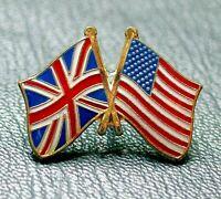 United Kingdom UK USA United States Flag Friendship Metal Enamel Pin Badge 2021