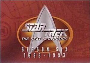 Star Trek THE NEXT GENERATION SEASON 6  SEASON SIX   BASE / BASIC SET 108 CARDS