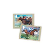 Z06AQ247 Großbritannien GB 2017 Racehorse Legends Postcards (Eight in set)