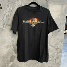 HARLEY DAVIDSON of GRAND CAYMAN men's black t-shirt skull pirate