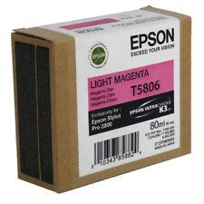 Original Tinta Epson Stylus pro 3800/T5806 Light Agenta Cartucho de Tinta