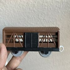 Thomas and Friends Trackmaster Brown Livestock Wagon with 2 Sliding Doors