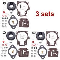 3 Carburetor Carb Rebuild Repair Kit For Johnson Evinrude 0383892 0383317 777717