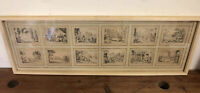 Suite de 12 Gravures XVIIeme XVIIIeme Ancien Haute Époque Miniature