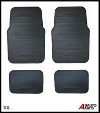 4 PIECES BLACK UNIVERSAL FRONT REAR RUBBER NON-SLIP GRIP CAR MAT MATS